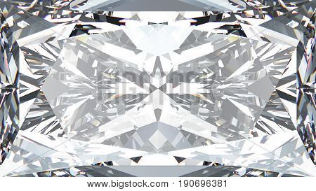 3D illustration crop diamond texture macro zoom
