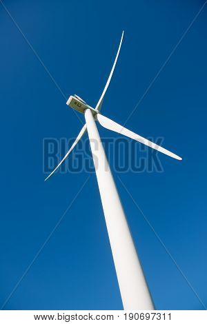 Windmill for electric power production.  Alternative energy sources.Ecologically clean energy sources.