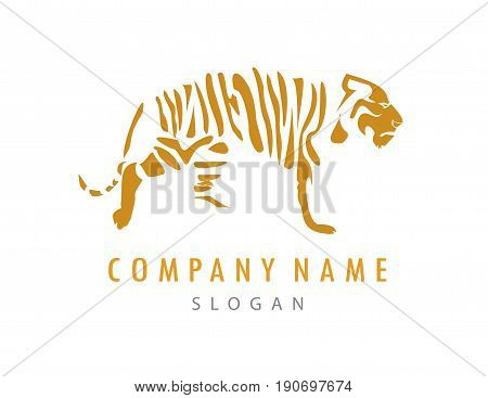 Abstract tiger logo on a white background