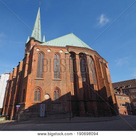 St Petri Church In Luebeck