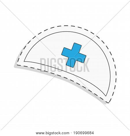 medicine flat icon for design. Nurse cap. World blood donor day. International holiday. donate blood and save life. Donation give love. Vector ullustration