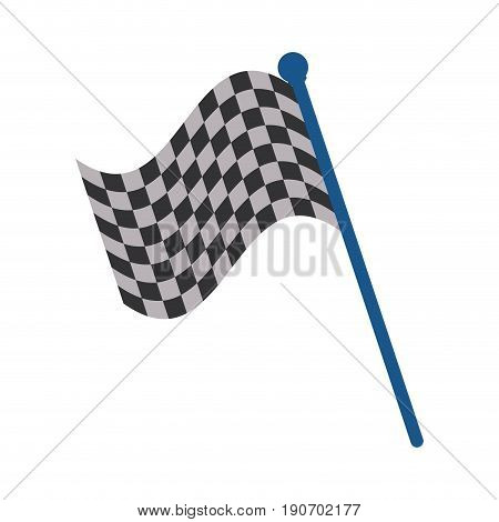 racing flag flat illustration icon vector design graphic