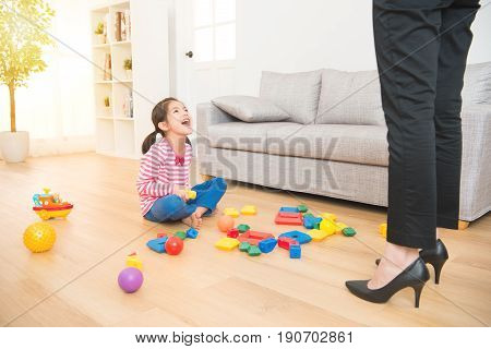 Gloat Kid Mess Up All Over Of Living Room