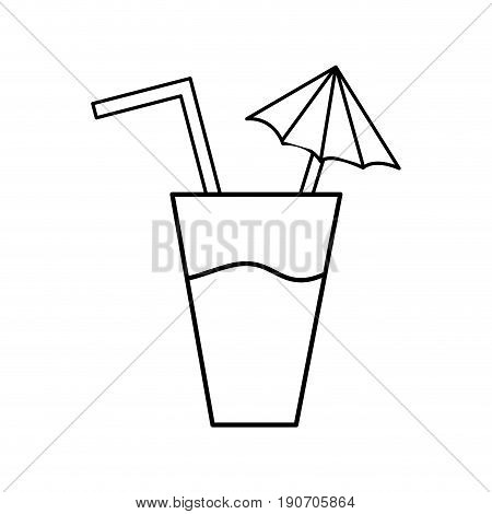 line delicious water glash to refresh the day vector illustration