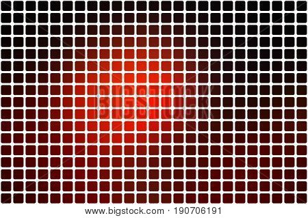 Red brown black vector abstract mosaic background with rounded corners square tiles over white