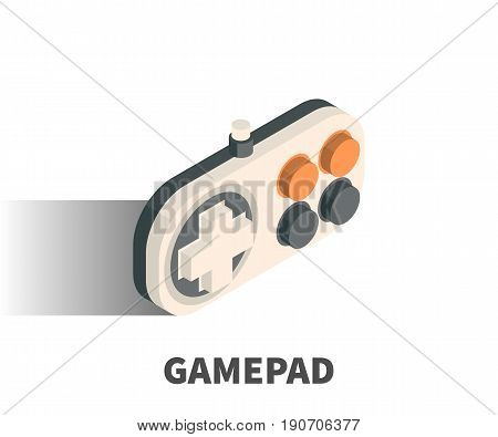Gamepad Icon, Vector Symbol In Isometric 3D Style Isolated On White Background.