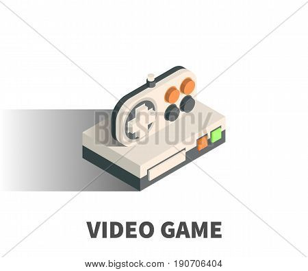 Video Game Icon, Vector Symbol In Isometric 3D Style Isolated On White Background.