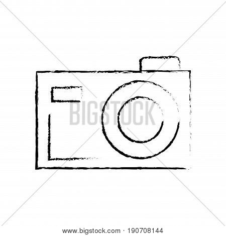 line digital camera to capture the nice moments vector illustration