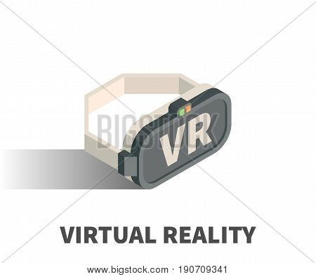 Virtual Reality glasses icon vector symbol in isometric 3D style isolated on white background.