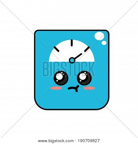 kawaii cute tender weighing machine vector illustration
