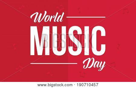 World music day background illustration vector art