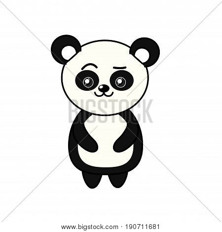 beautiful cute animals with expression face vector illustration