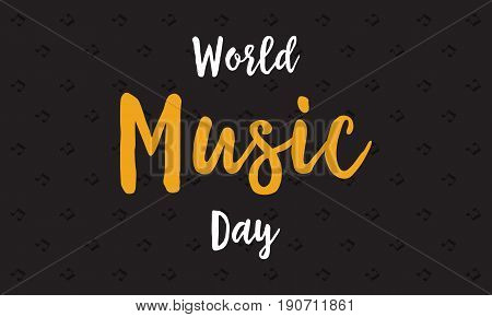 Background of world music day vector flat collection