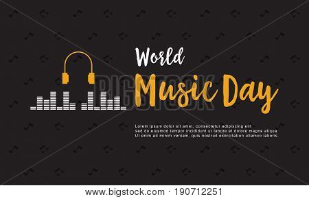 Banner style world music day collection vector art