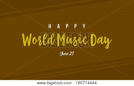 Vector flat world music day collection background stock