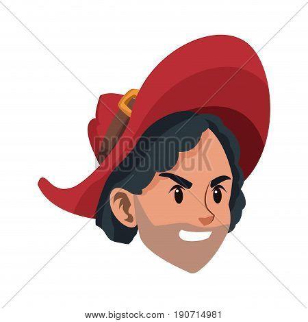 pirate man costume halloween costume vector illustration
