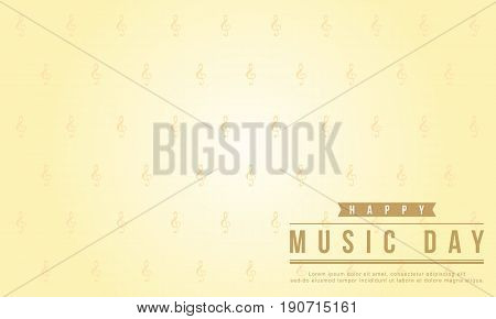 Background style world music day vector flat collection