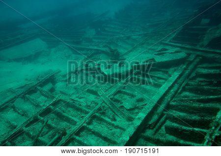 Metal Parts Of Shipwreck
