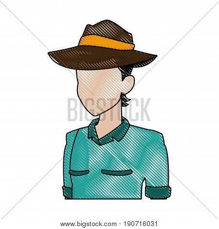 explorer man safari costume halloween celebration vector illustration