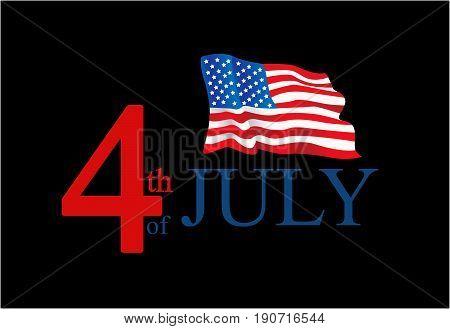 United State Of America flag isolated illustration