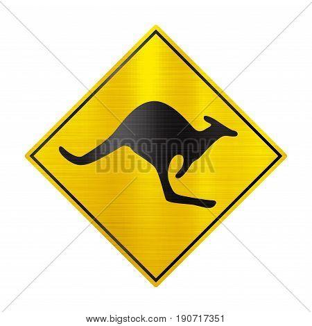 kangaroo australian sign beware symbol  wildlife illustration