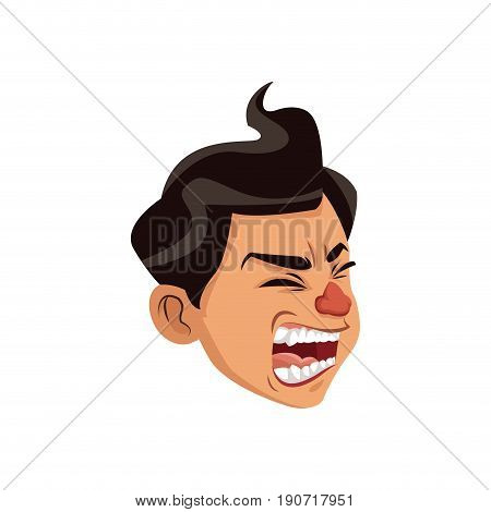 coughing man sick person with cold flu and virus vector illustration
