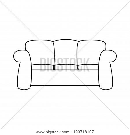 sofa furniture comfort interior decor vector illustration