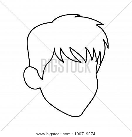 default head man portrait hair image vector illustration