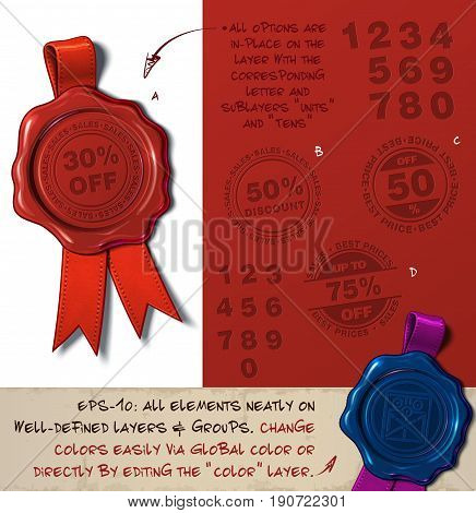 Wax Seal - Percent Off And Discount