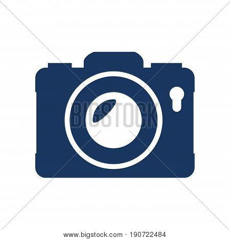 camera icon over white background vector illustration
