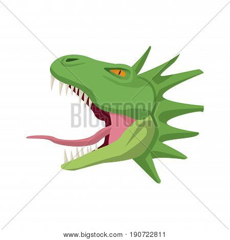 cartoon head hydra mythological creature vector illustration