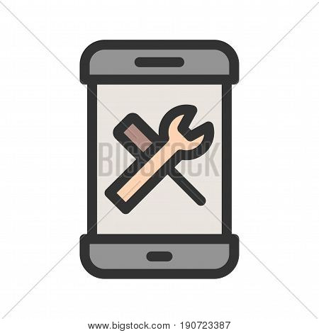Configuration, control, setting icon vector image. Can also be used for smartphone. Suitable for mobile apps, web apps and print media.