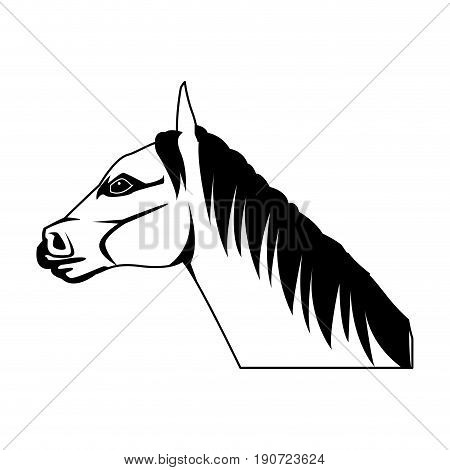 unicorn legendary mythical creature horned vector illustration