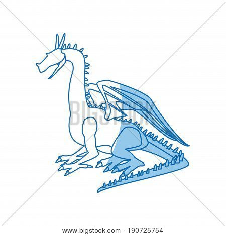 dragon beast mythology fantasy monster medieval vector illustration