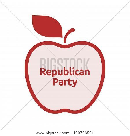 Isolated Apple With  The Text  Republican  Party