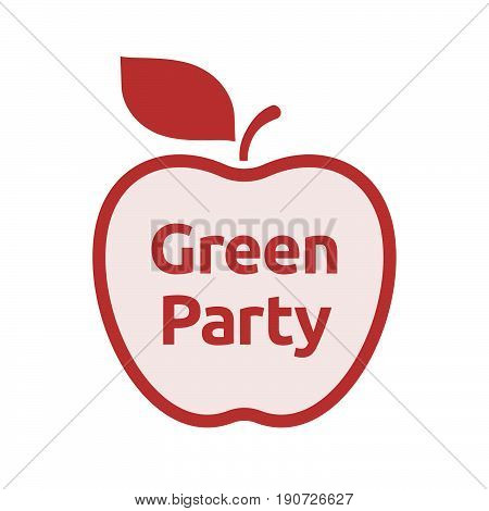 Isolated Apple With  The Text Green Party