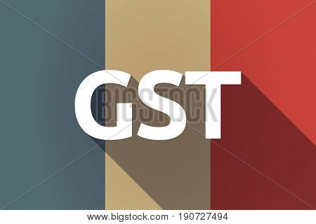 Long Shadow France Flag With  The Goods And Service Tax Acronym Gst