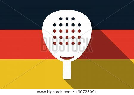 Long Shadow Germany Flag With  A Paddle Racket