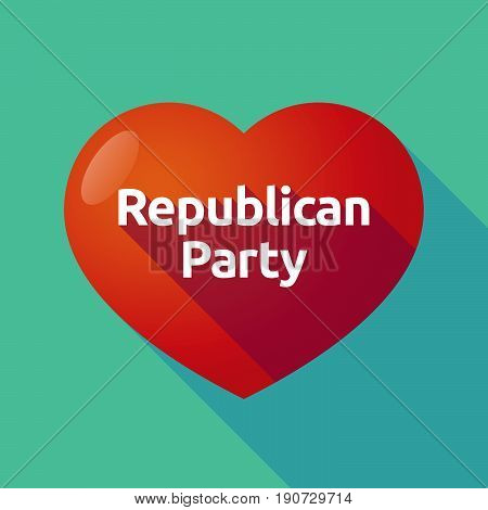 Long Shadow Heart With  The Text  Republican  Party