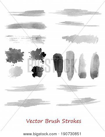 vector grungy brush strokes set. Elements for your design. Eps10