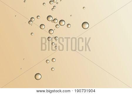 beautful golden bubbles soars over a gradient background