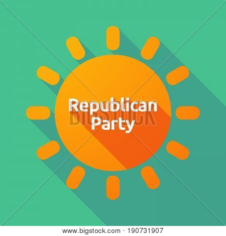 Long Shadow Sun With  The Text  Republican  Party