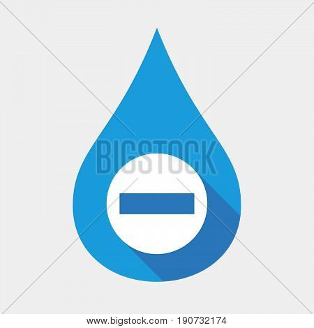 Isolated Water Drop With  A No Trespassing Signal