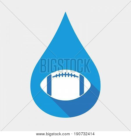 Isolated Water Drop With  An American Football Balloon