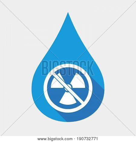 Isolated Water Drop With  A Radioactivity Sign  In A Not Allowed Signal
