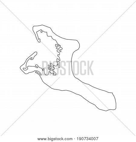 Kiribati map silhouette illustration on the white background. Vector illustration