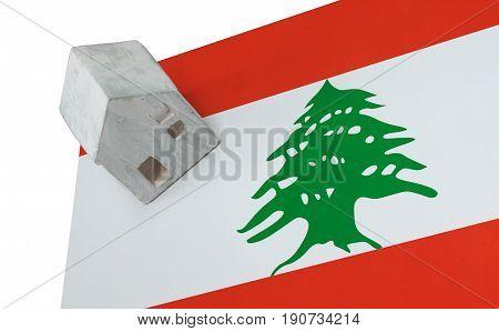 Small House On A Flag - Lebanon