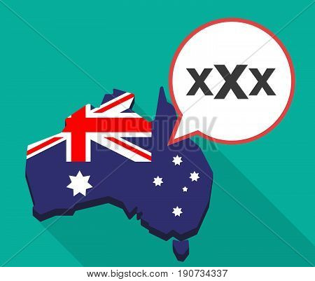Long Shadow Australia Map With  A Xxx Letter Icon
