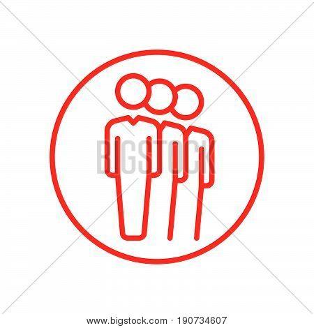 People queue line icon vector illustration .