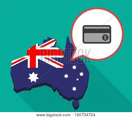 Long Shadow Australia Map With  A Credit Card
